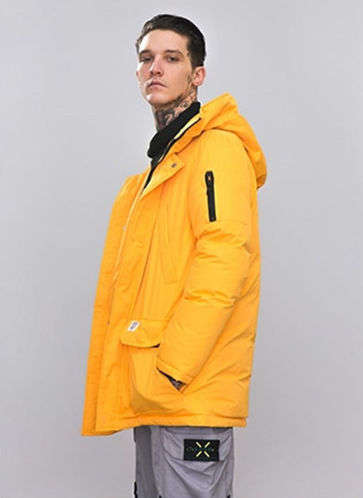 Men's Winter Warm Thick Down Hooded Long Parka