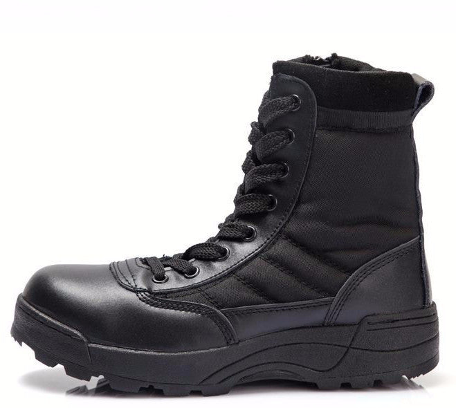 Men's Comfortable Solid Color Army High Boots - Zorket