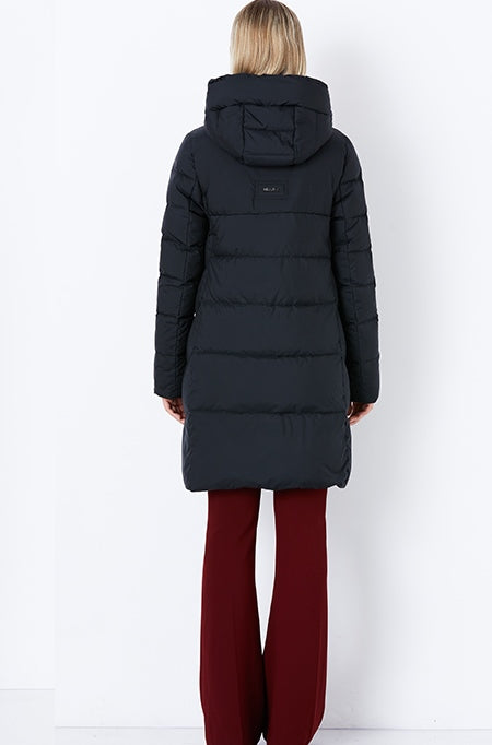Women's Winter Thick Warm Bio-Fluff Long Coat With Sewn Hood