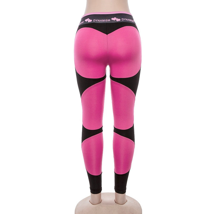 Women's Summer High Waist Patchwork Fitness Leggings