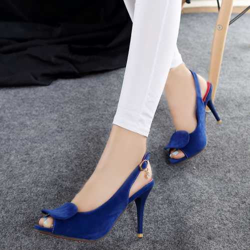 Pumps – Female Stylish Peep Toe Thin High Heel Pumps | Zorket
