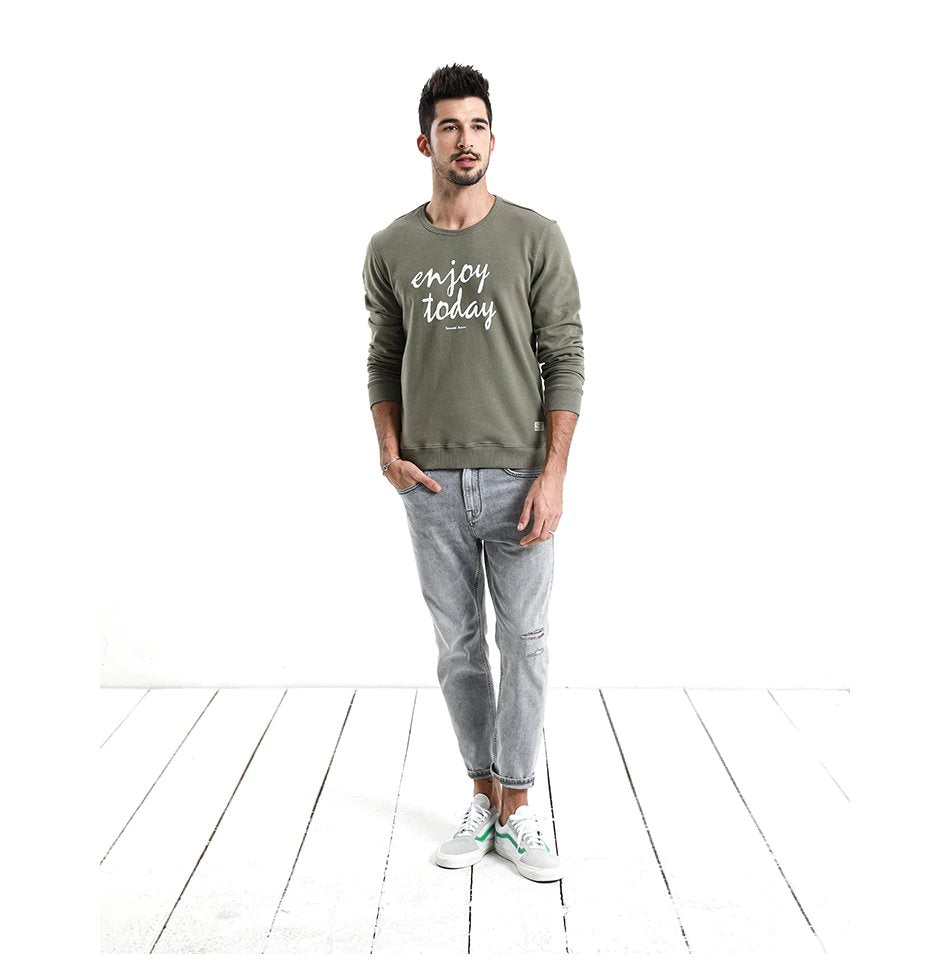 Men's Autumn Causal Slim Fit O-Neck Sweatshirt | Men's Clothing