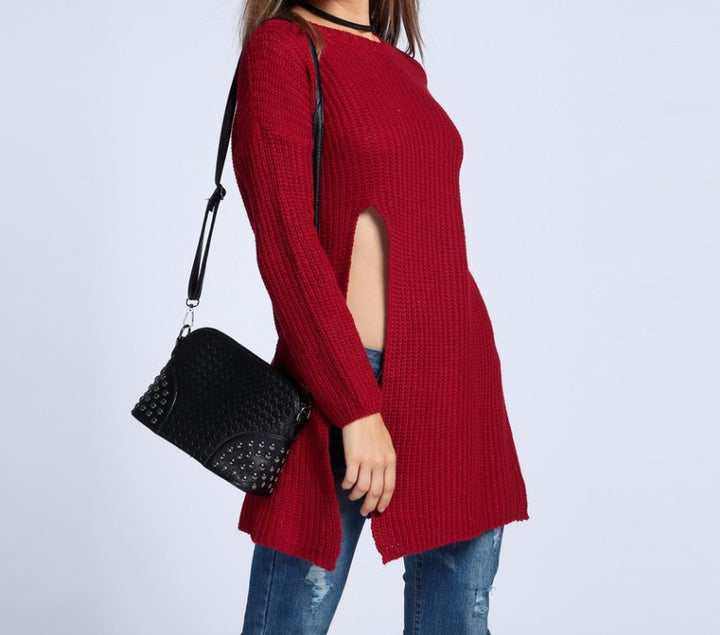 Warm Winter Long Knitting Pullover Sweater For Women - Zorket