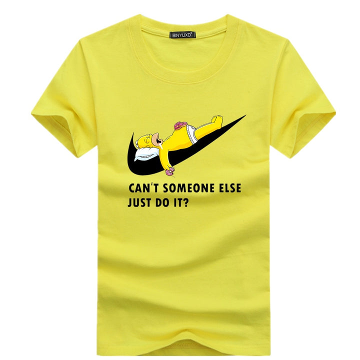 Men's Summer Cotton T-Shirt With Homer Simpson