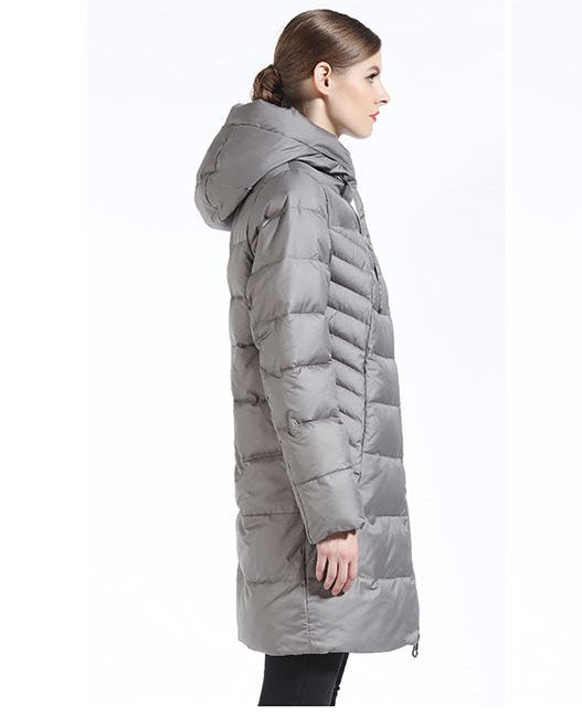 Women's Winter Thick Hooded Long Down Coat | Women's Warm Parka