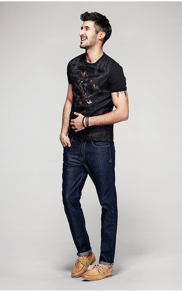 Men's Summer Patchwork O-Neck T-Shirt