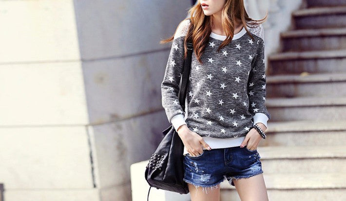 Women's Spring / Autumn Casual O-Neck Long Sleeve Tee - Zorket