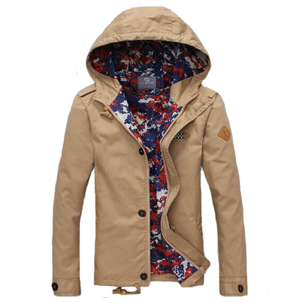 Jacket – Men's Casual Spring & Autumn Jacket With Hood | Zorket