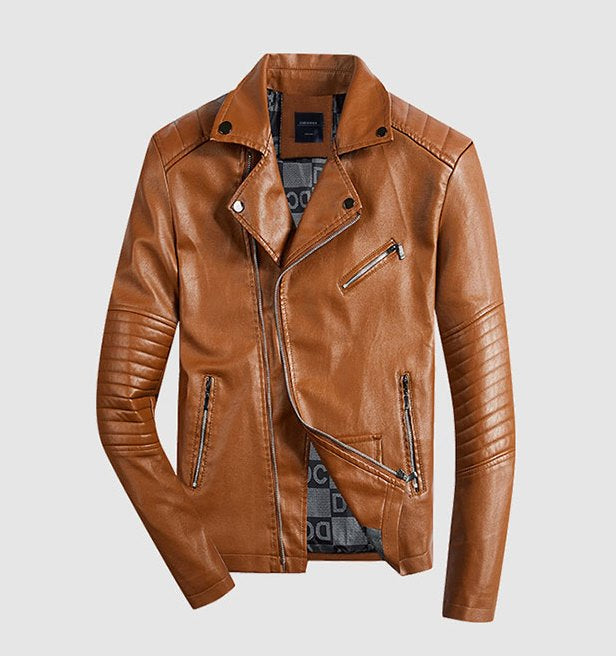 Men's Autumn PU Leather Motocycle Jacket