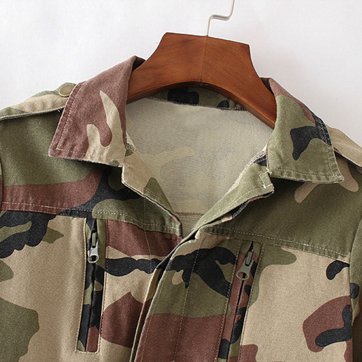 Women's Spring/Autumn Camouflage Loose Jacket