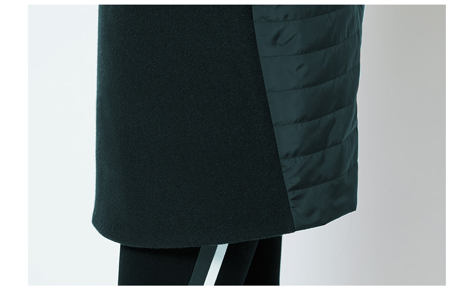 Women's Spring Warm Quilted Jacket With Standing Collar