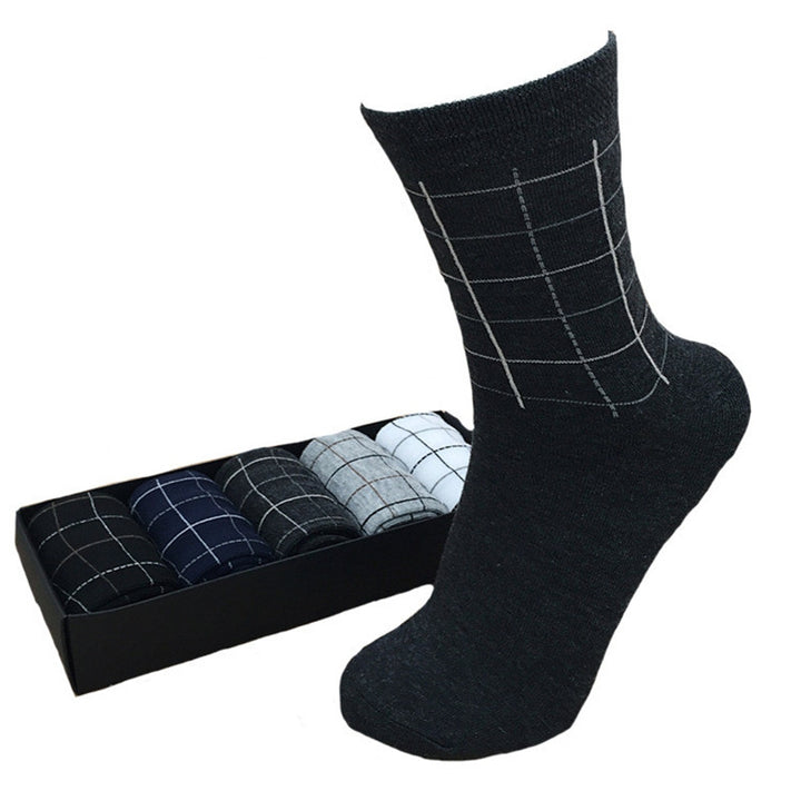 Men's Summer Cotton Breathable Formal Socks | 5 Pairs Socks