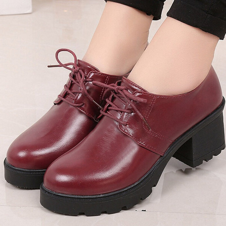 Oxfords – England Style Women's Thick Heel Oxfords | Zorket