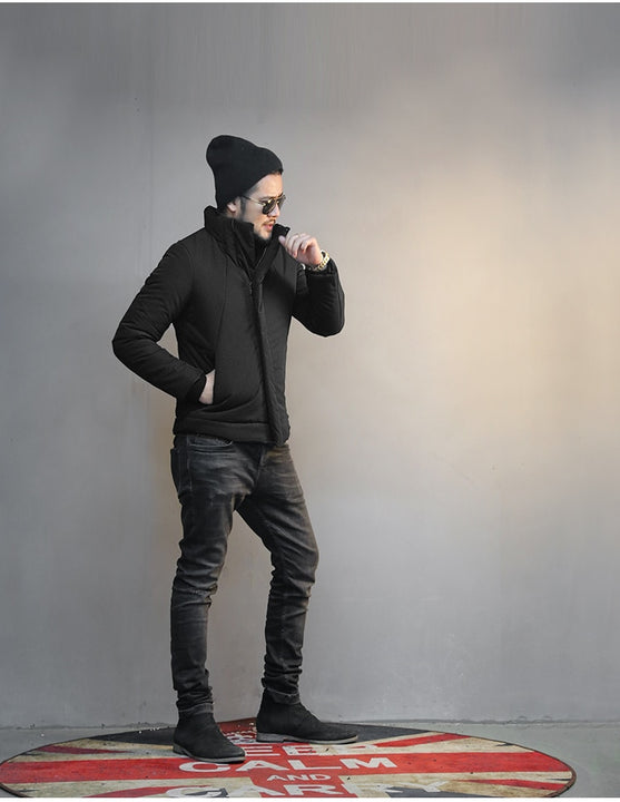 Men's Winter Warm Thick Cotton Thermal Padded Short Jacket