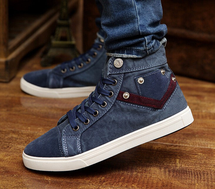 Sneakers – High Quality Denim Canvas Male Shoes | Zorket