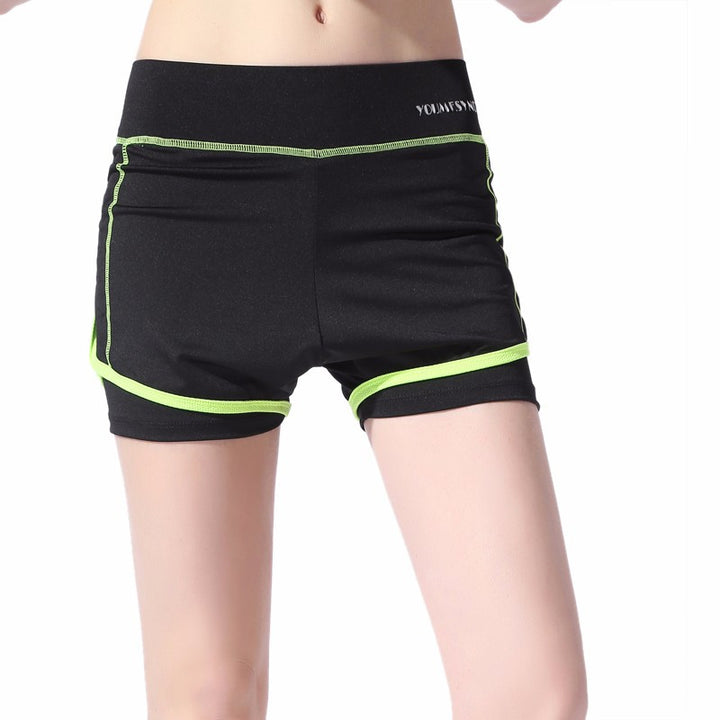 Women's Black High Waist Shorts - Zorket