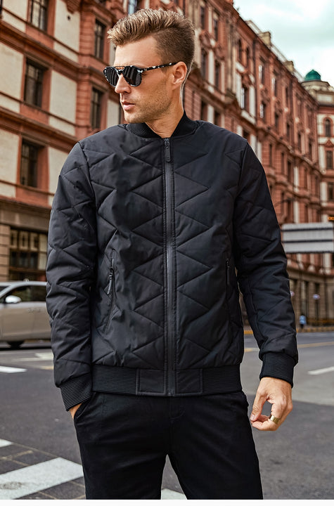 Men's Winter Warm Thick Quilted Bomber