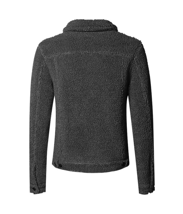 Men's Autumn/Winter Thick Warm Fleece Furry Jacket