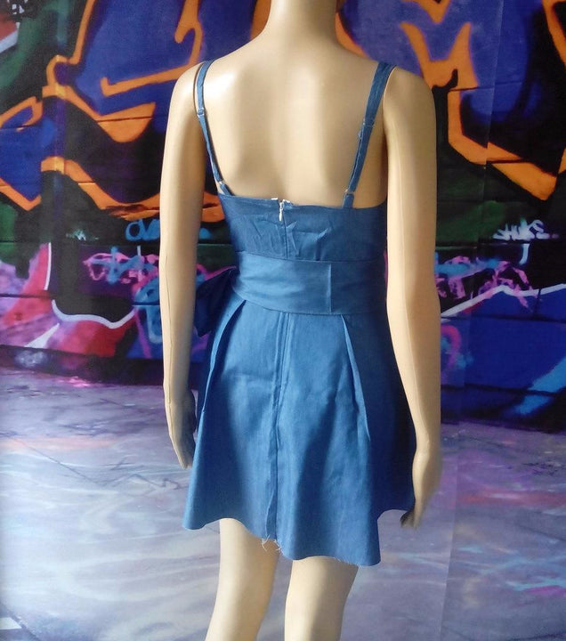 Dress – Casual Summer Blue Sleeveless Dress | Zorket