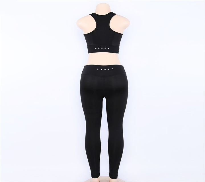 Women's Summer Fitness Two-Piece Set | Top And Leggings