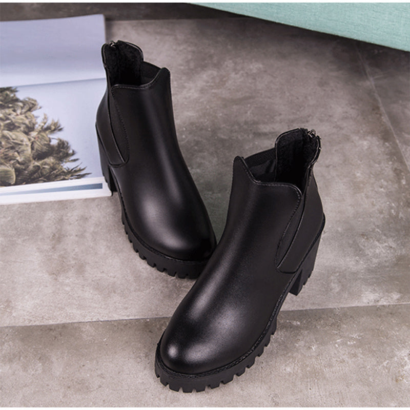 Women's Winter Platform High-Heeled Chelsea Boots