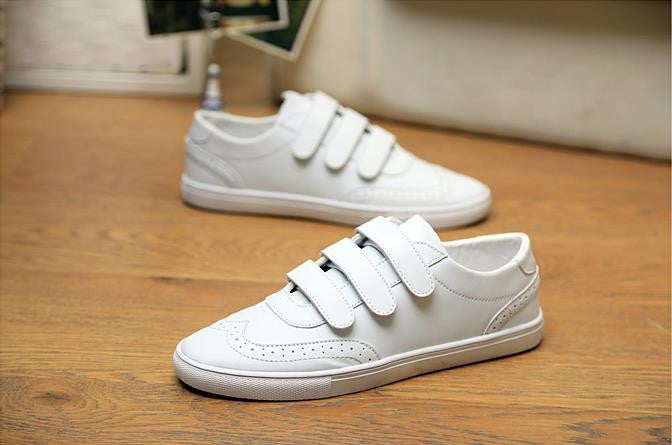 Sneakers – Men's Casual Comfortable Solid Color PU Leather Sneakers | Zorket