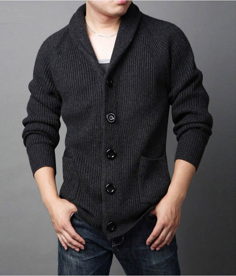 Men's Winter Casual Single-Breasted Knitted Cardigan