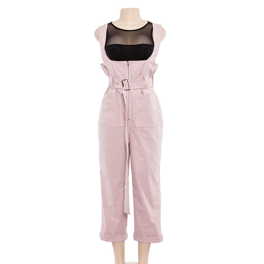 Women's Summer/Autumn Strappy Jumpsuit With Pockets