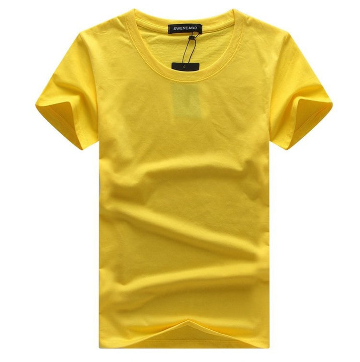 Men's Summer Cotton Basic Short-Sleeved O-Neck T-Shirt