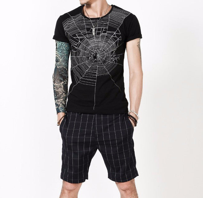 O-Neck T-Sirt With Spider Print - Zorket
