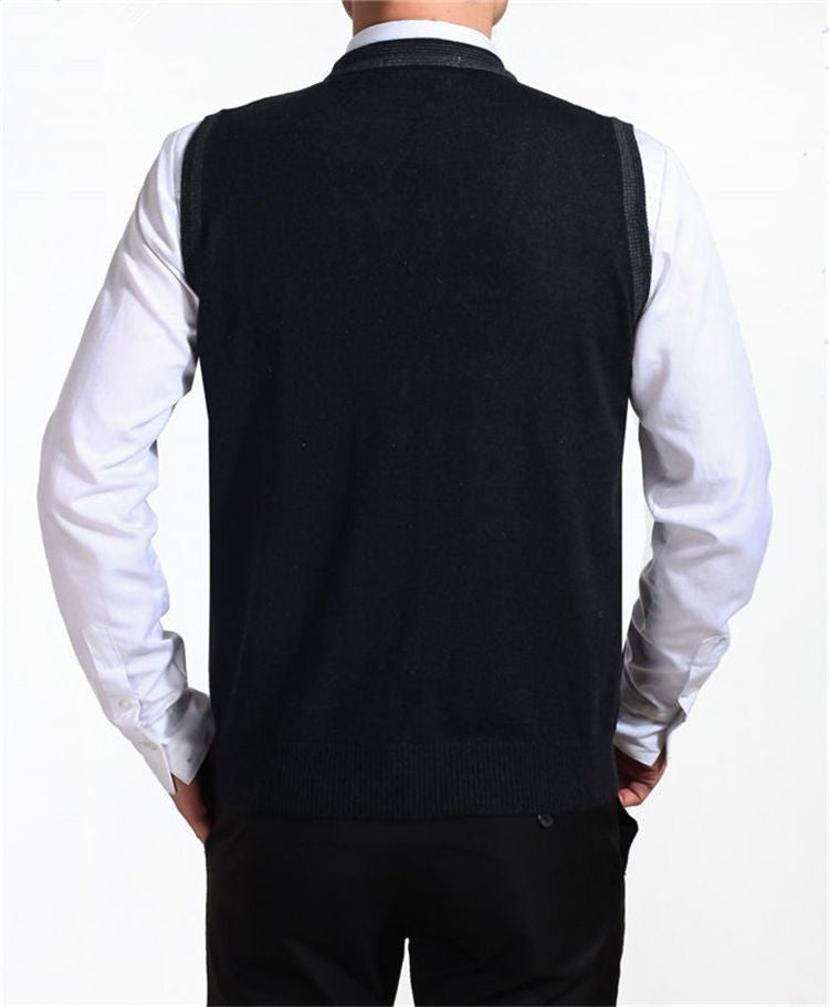Autumn Cashmere Men's Knitted Vests - Zorket