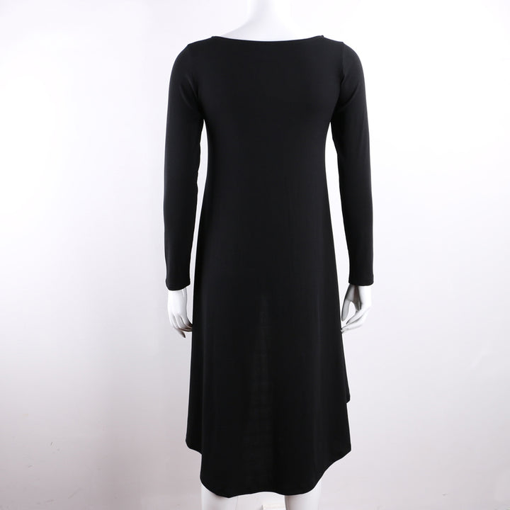 Women's Autumn Stretch Knitted Cotton O-Neck Long-Sleeved Tunic