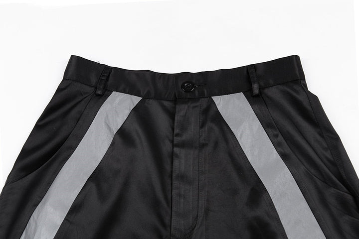 Women's Autumn/Winter High Waist Cargo Pants With Reflective Stripes