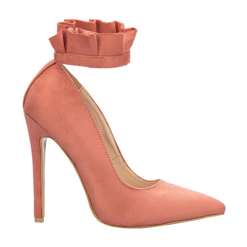 Women's Spring/Autumn High-Heeled Pumps With Ruffles