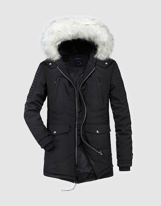 Men's Winter Warm Cotton Hooded Parka | Men's Outwear