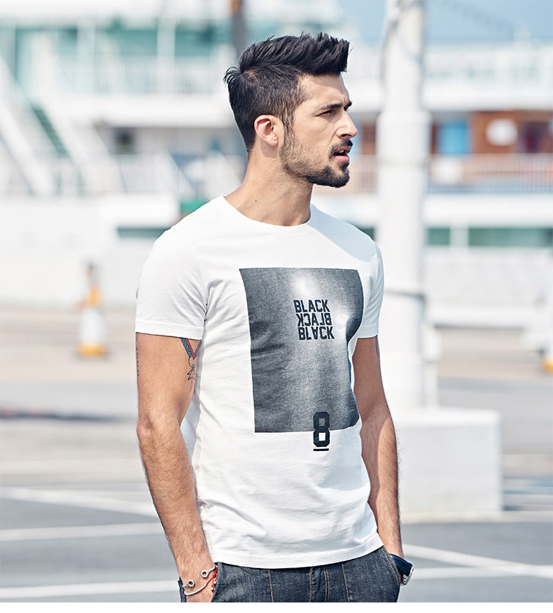 Men's Summer Cotton O-Neck T-Shirt