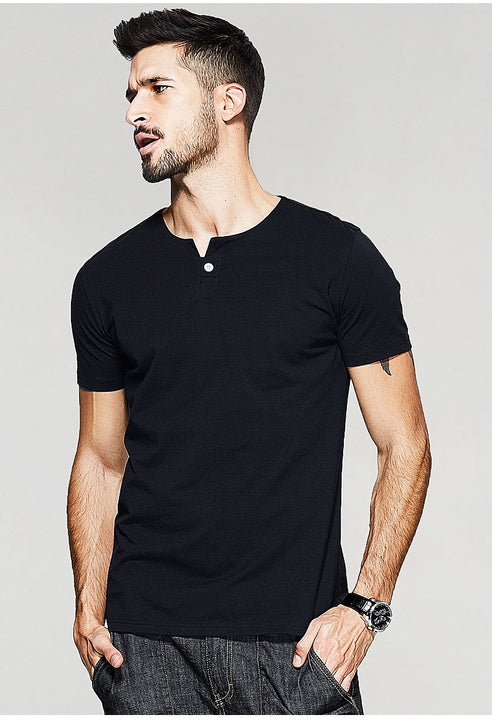 Men's Summer Casual Short-Sleeved Slim T-Shirt