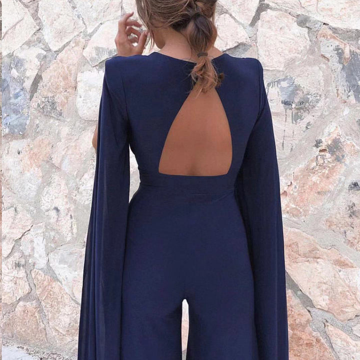 Women's Summer V-Neck Long-Sleeve Romper