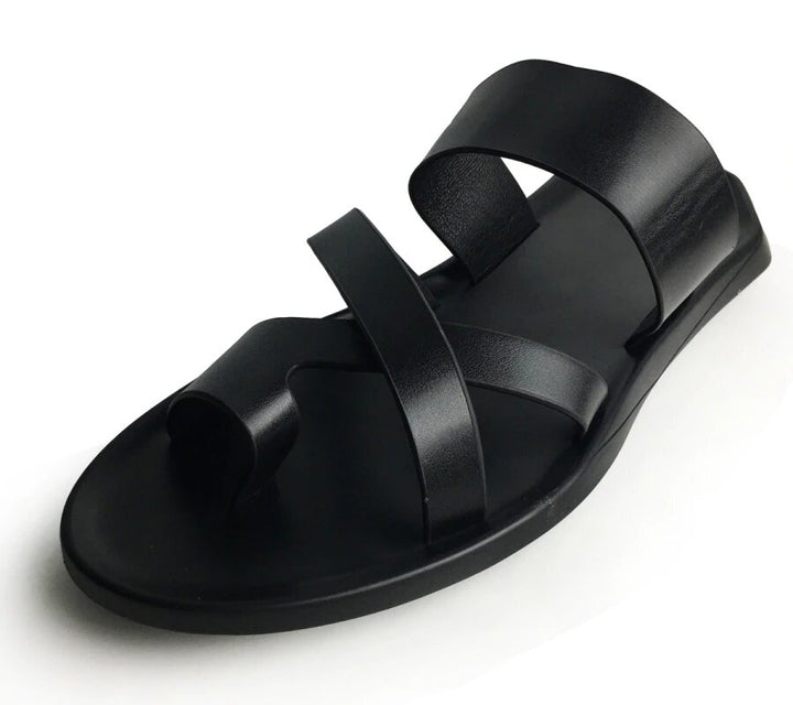 Men's Summer Leather Casual Large Size Sandals