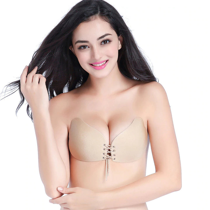 Women's Seamless Self Adhesive Strapless Bra