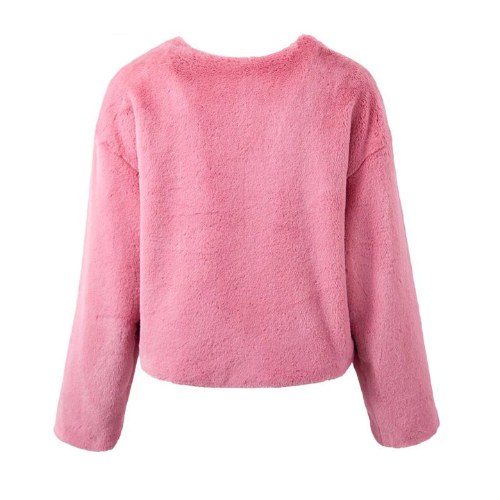 Women's Autumn/Winter Thick Lamb's-Wool Cropped Pullover