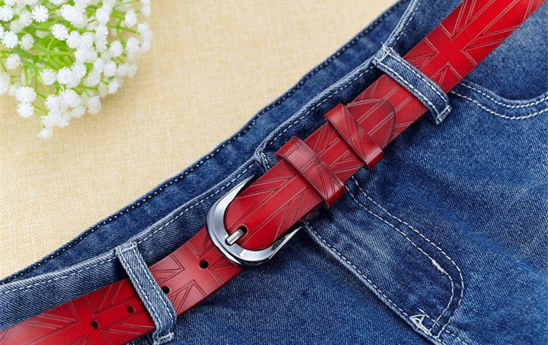 Belt – Luxury Women's Genuine Leather Pin Buckle England Belt | Zorket