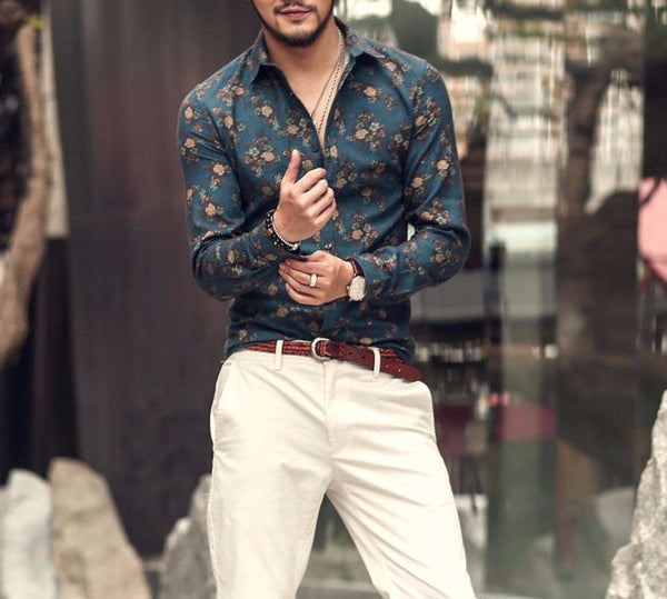Shirt – Men's Floral Long Sleeve Shirt | Zorket