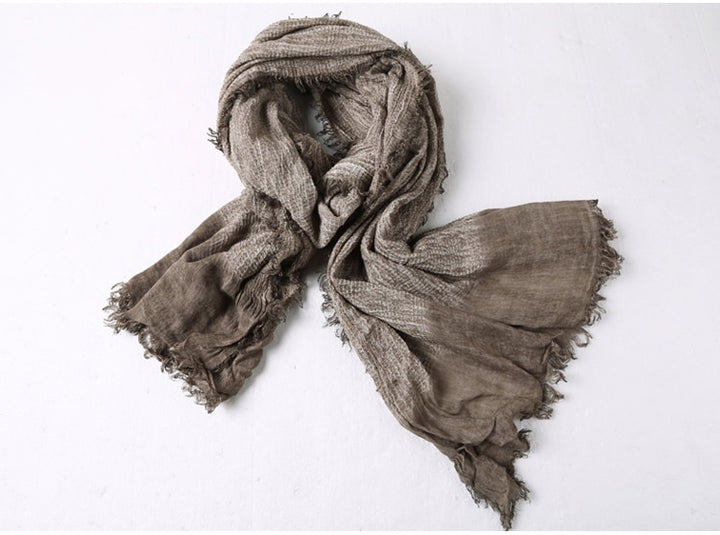 Men's Autumn/Winter Retro Soft Linen Scarf