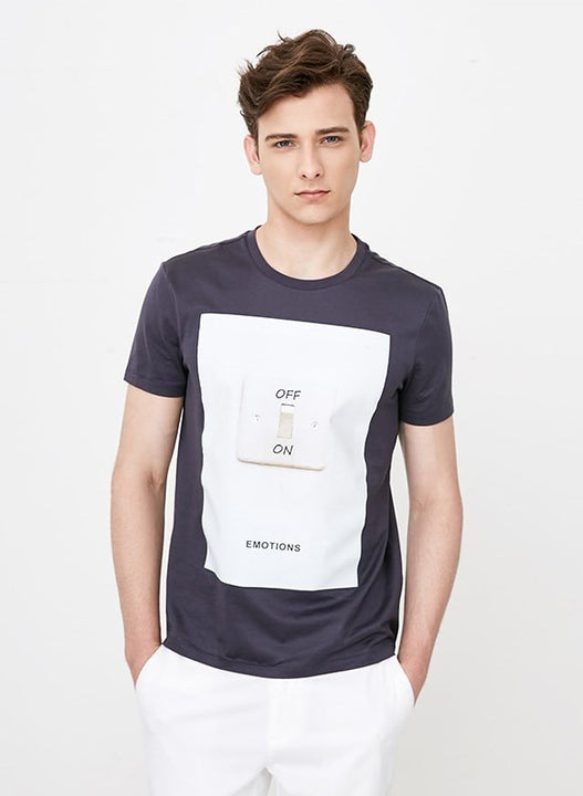 Men's Summer Cotton O-Neckline Short-Sleeved T-Shirt