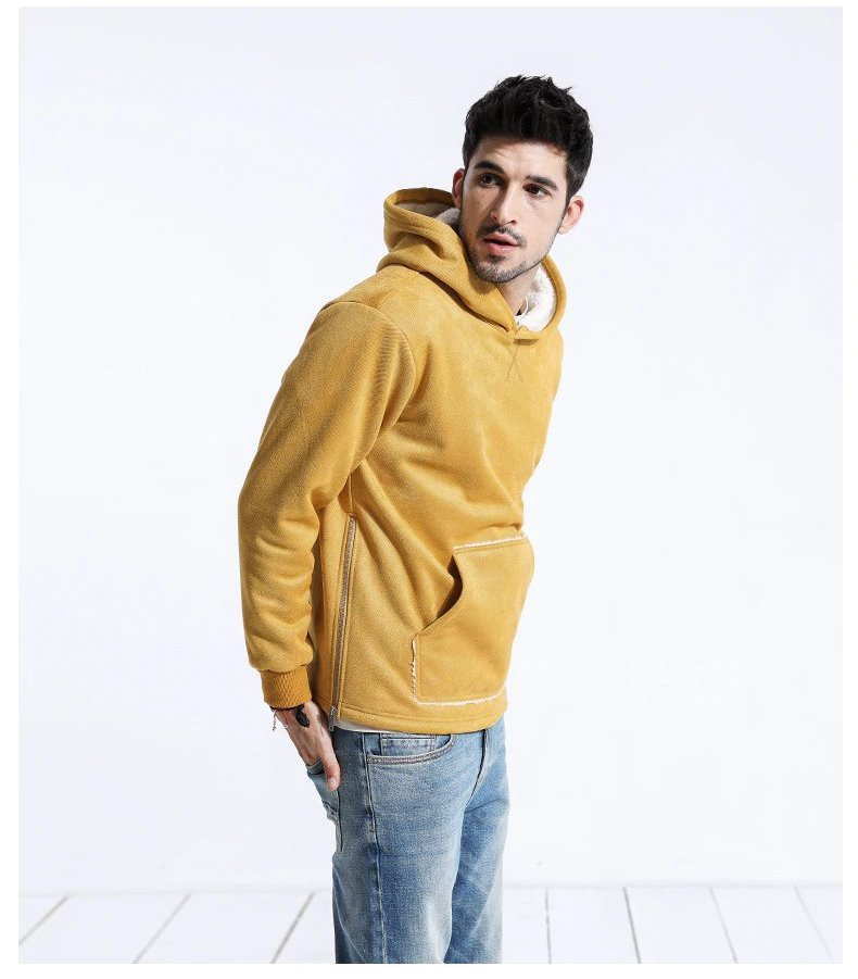 Men's Autumn Slim Fit Fleece Hoodie | Men's Hooded Sweatshirt