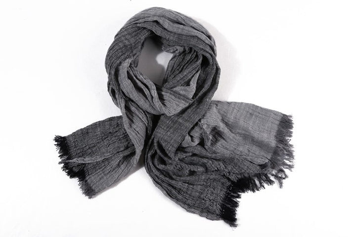 Men's Spring/Autumn Cotton Linen Multicolor Shawl Scarf