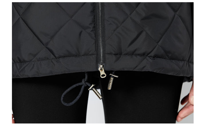 Women's Spring Windproof Hooded Thin Cotton-Padded Jacket