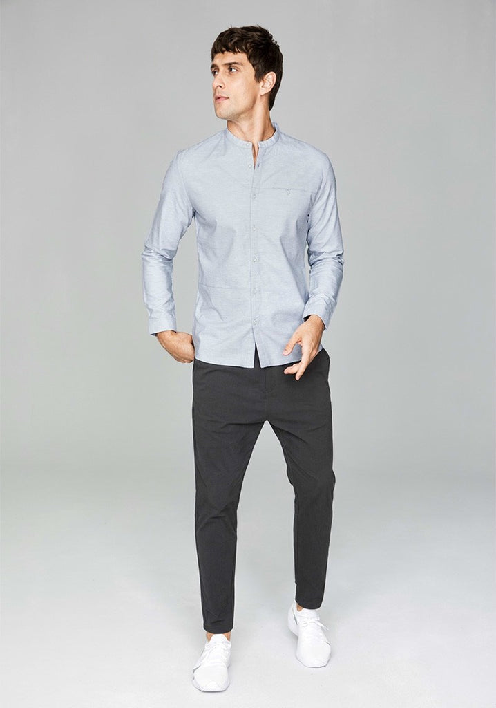 Men's Autumn Cotton Long-Sleeved Slim Shirt