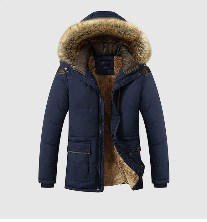 Men's Winter Thick Warm Hooded Parka
